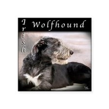 Irish Wolfhound Square Sticker