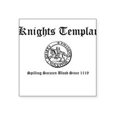 Knights Templar Saracen Blood Square Sticker