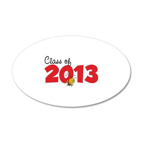 Class of 2013 22x14 Oval Wall Peel