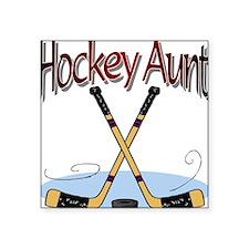 HOCKEY AUNT Square Sticker