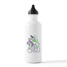 tribal purple dragon Water Bottle