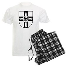 Crusaders Cross - Knights Templar B-W Pajamas