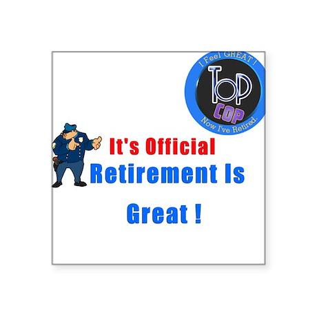 39 Police Retirement Designs Square Sticker By Admin Cp3155635