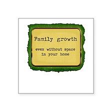 FamilyGrowth Square Sticker