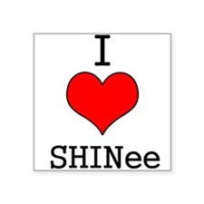 """I Heart SHINee"" Square Sticker"