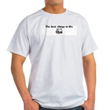 Ojai: Best Things Ash Grey T-Shirt