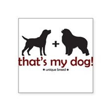 Lab/Great Pyrenees Square Sticker