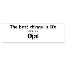 Ojai: Best Things Bumper Car Sticker