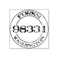 Forks, WA 98331 Square Sticker