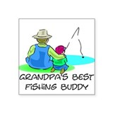 Grandpa's Fishing Buddy Square Sticker