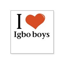 I love Igbo boys Square Sticker