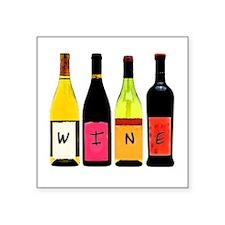 WINE Bottles Square Sticker
