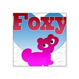NOW ON SALE, Foxy Square Sticker