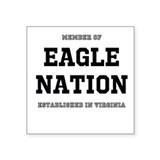 Eagle Nation Square Sticker