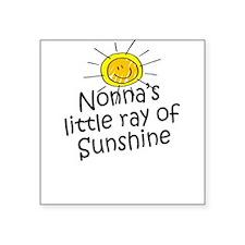 Nonna's Sunshine Square Sticker