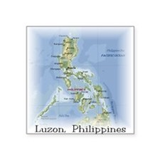 Luzon Map Gifts Square Sticker