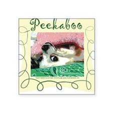 Peekaboo! Chihuahua Square Sticker