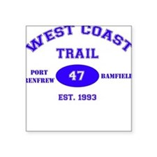 West Coast Trail Square Sticker