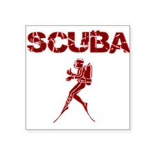 SCUBA MAN Square Sticker