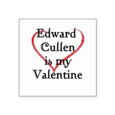 Edward Cullen Valentine's Day Square Sticker