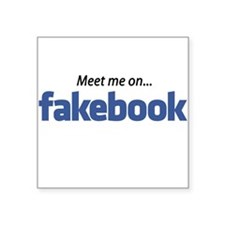 "Fakebook ""MEET me"" Square Sticker"