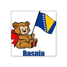 Bosnia Teddy Bear Square Sticker
