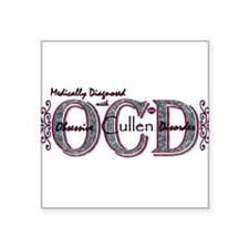 OCD purple Square Sticker