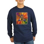 Teleportation Long Sleeve Dark T-Shirt