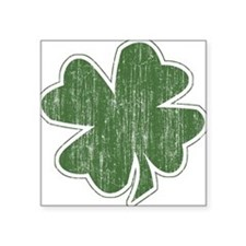Shamrock Vintage Square Sticker