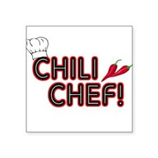 Chili Chef Square Sticker