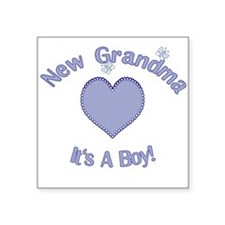 New Grandma It's a Boy Square Sticker