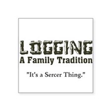 Family Tradition Square Sticker