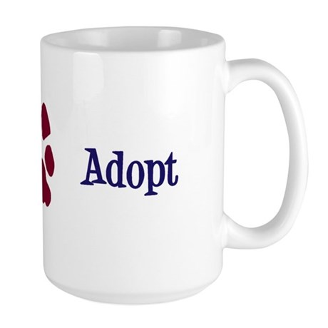 Adopt (With Paws) Large Mug