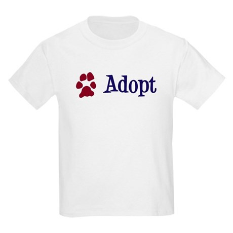 Adopt (With Paws) Kids Light T-Shirt