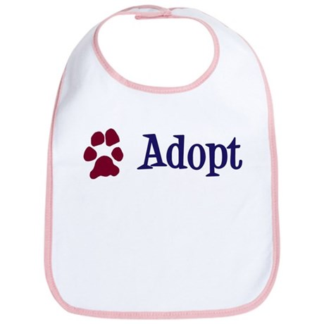 Adopt (With Paws) Bib