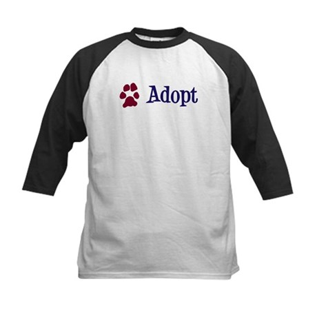 Adopt (With Paws) Kids Baseball Jersey