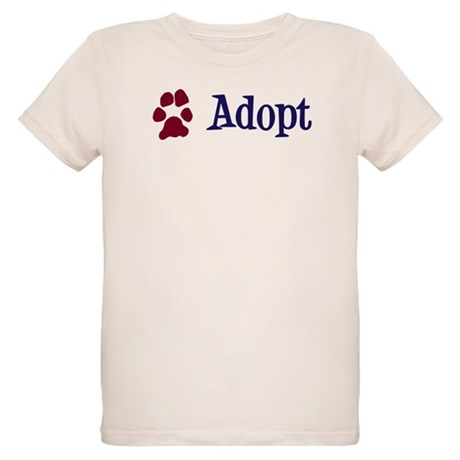 Adopt (With Paws) Organic Kids T-Shirt