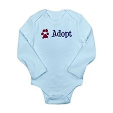 Adopt (With Paws) Long Sleeve Infant Bodysuit