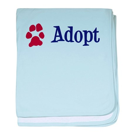 Adopt (With Paws) baby blanket