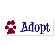 Adopt (With Paws) Bumper Sticker