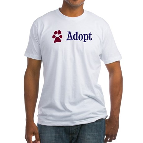 Adopt (With Paws) Fitted T-Shirt