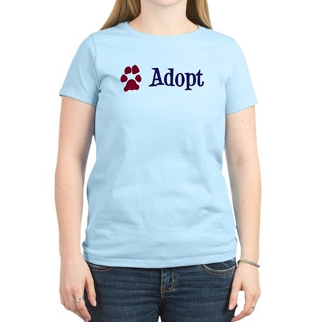 Adopt (With Paws) Women's Light T-Shirt