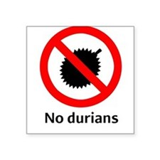 No Durian Square Sticker