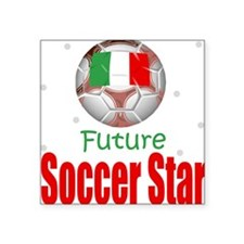 Future Soccer Star Italy Baby Square Sticker
