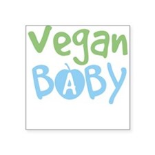 Vegan Baby Boy Square Sticker