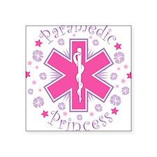 Paramedic Princess Square Sticker