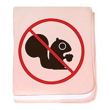 No Squirrels baby blanket