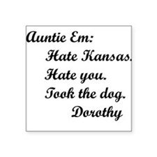 Wizard of Oz Auntie Em Square Sticker