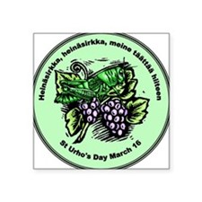 St Urhos Day Square Sticker