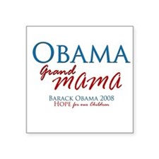 Obama Grandmama Square Sticker